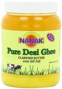Nanak Pure Desi Ghee, Clarified Butter, 56-Ounce Jar