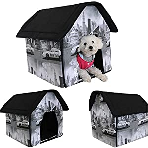 1 Set Rousing Modern Indoor Pet House Cat Furniture Collapsible Couch Dog Tent Style New York
