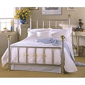 Amazon Putnam Bed In Steel & Brass By Charles P