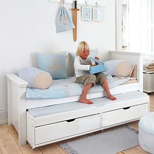 Soldes alfred compagnie lit 90x200 avec lit gigogne et t - Lit 120x190 avec tiroir ...