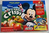 Disney Brothers All Natural - Fruit Crisps 2 Pack (1.23oz Each Box) - No Sugar Added