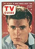 1957 TV Guide Dec 28 Ricky Nelson - Kansas City Edition NO MAILING LABEL Excellent (5 out of 10) Lightly Used by Mickeys Pubs