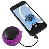 ITALKonline PURPLE Rechargeable 3.5mm Capsule Speaker for BlackBerry 8320 Curve