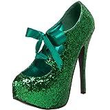 Bordello by Pleaser Womens Teeze-10G Pump,Green Glitter,8 M US