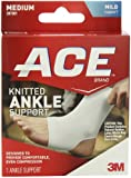 ACE Knitted Ankle Support, Medium (Pack of 2)