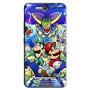 MARIO AND LUIGI BACK COVER FOR MICROMAX CANVAS JUICE 3