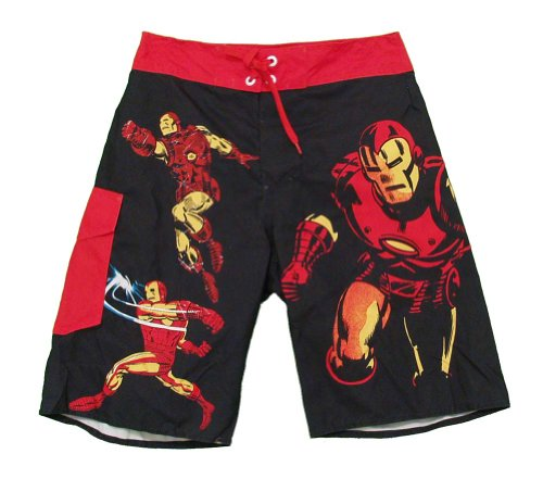 Marvel Comics Iron Man Adult Board Shorts