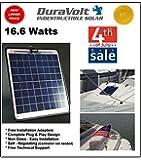 "Solar Charger - 16.6 Watt Boat, RV, Marine & Trolling Motor Solar Panel - Semi Flexible - Self Regulating - 12 Volt - No experience Plug & Play Design. Dimensions 14.1"" L x 15.7"" W x 1/4"" Thick. 10' cable."