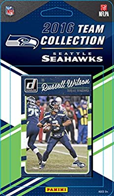 Seattle Seahawks 2016 Donruss Factory Sealed Team Set with Steve Largent, Russell Wilson, Marshawn Lynch, Richard Sherman, Earl Thomas, 5 Rookies plus