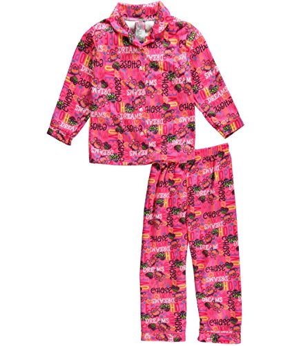 "Sweet N Sassy Little Girls' ""Dream Chase"" 2-Piece Pajamas - Pink/Multi, 5 - 6 front-875991"