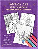img - for Fantasy Art Coloring Book: Fairies, mermaids, dragons and more! By artist Molly Harrison book / textbook / text book