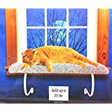 Cat Window Perch Bed Sheepskin NO Tools up to 25 lbs