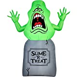 Halloween Inflatable 5 Slimer on Tombstone Ghost Busters Prop Decoration By Gemmy