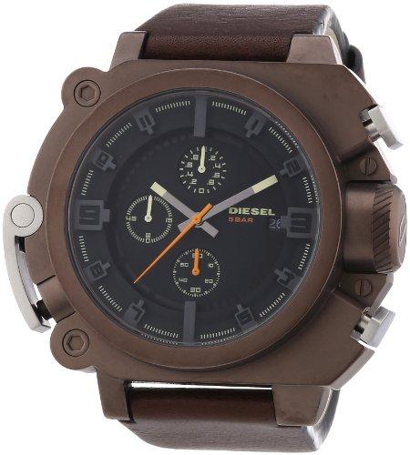 beseriet diesel dz4245 montre homme quartz analogique cadran noir bracelet cuir marron. Black Bedroom Furniture Sets. Home Design Ideas