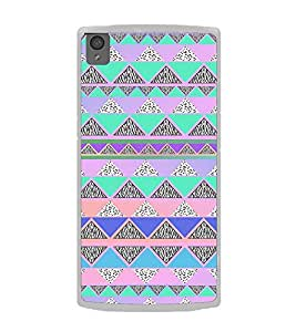 ifasho multi color Triangular Pattern Back Case Cover for OnePlus X