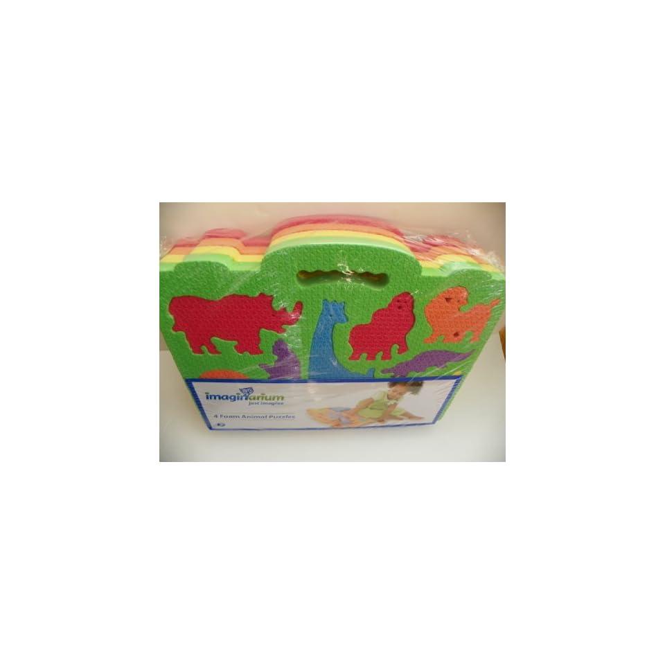 Imaginarium Foam Animal Puzzles   4 Pack ***Farm Animals, Wild Animals, Sea Creatures and Dinosaurs Puzzles  4 Mat***. Toys & Games