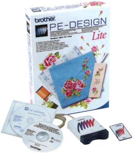 Brother Pe Design Lite Embroidery Software - Comes With Rewritable Embroidery Card + Reader/Writer Box + Auto-Digitizing Capabilities + 35 Fonts!!! front-115800