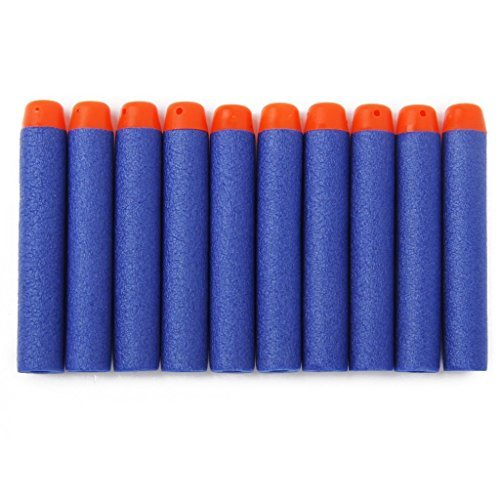 Lot 100 Pcs 7.2cm Blue Foam Darts for Blasters Toy Gun (Nerf Bullets Elite compare prices)
