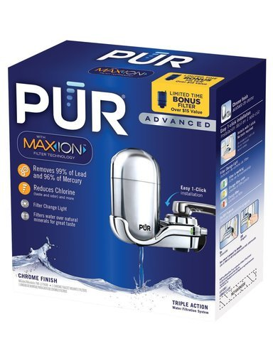 PUR Advanced Faucet Water Filter Chrome FM-3700B (Value Pack of 3 Filter) (Pur Value Pack compare prices)
