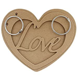 Tootpado Heart Shaped Chipboard Mini Album Scrapbook Brown DIY Art & Craft Activites