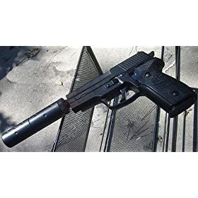 Model 228 Pistol with Silencer Airsoft Gun