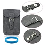 Generic Pu Leather Genuine Waist Belt Flip Bag Case for Samsung Galaxy Note 7000 I9220 N7100 I9300 Nokia Lumia920 820 810 800 N9 N8 Iphone 3 Iphone 4 4s Iphone 5 HTC One X S V Moto Sony Lg (Grey)+ Free Gift