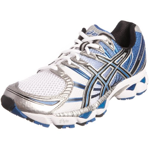 Asics Men's Gel Nimbus 12 Running Shoe White/Onyx/Royal T045N0199 15 UK