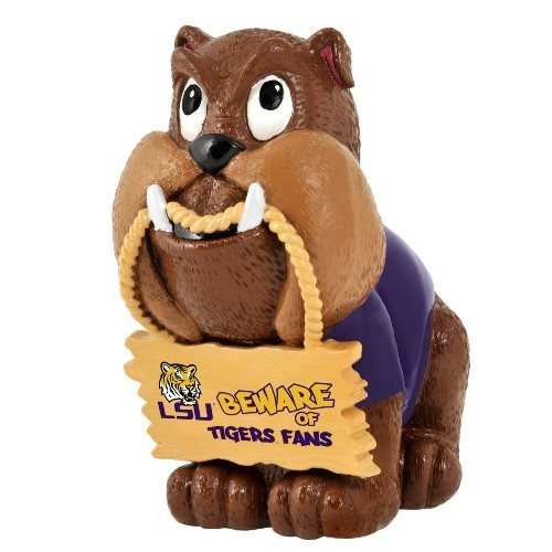 LSU Tigers NCAA Bulldog Holding Sign Figurine at Amazon.com
