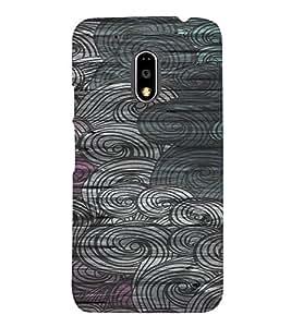 PrintVisa Vintage Art Waves Pattern 3D Hard Polycarbonate Designer Back Case Cover for Motorola Moto G4 PLAY