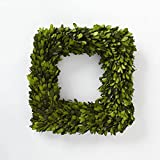 Preserved Boxwood Square Wreath 10 in. by Trandingsmith