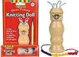Wooden Traditional French Knitting Doll Includes Needle & Wool Craft Toy