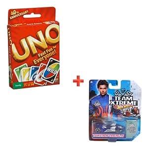 Mattel Uno Cards + Hotwheel Team Xtreme Car