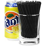 Frappe Cocktail Straws 4inch Black - Box of 1000 | 4 Inch Cocktail Straws