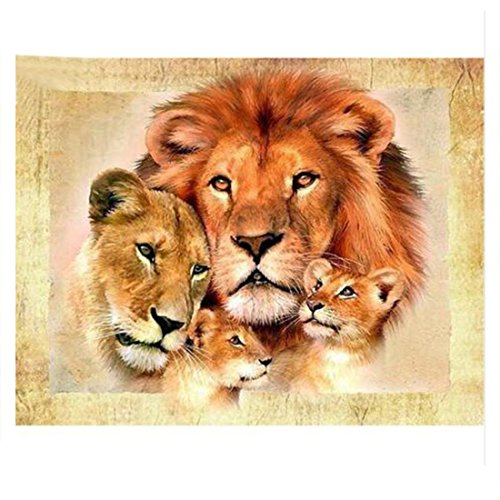 lion family Diamond painting cross stitch full Diamond embroidery Europe Home decoration Square drill animal series (Lilo And Stitch Full Series compare prices)