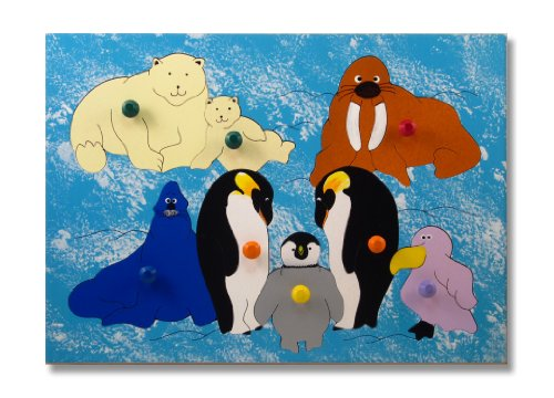 Cheap KidPuzzles Wooden Knob Puzzle Polar Animals (B00564HLNE)