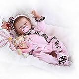 Sany Doll Reborn Baby Doll Soft Silicone Vinyl 22inch 55cm Lovely Lifelike Cute Baby Boy Girl Toy Pink Sleeping...