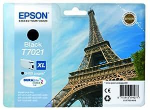 Epson T7021 High Capacity Ink Cartridge for Epson Workforce Pro 4000 Series Printers - Black (Yield