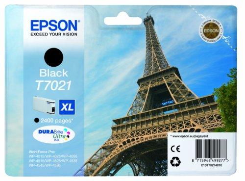 Epson T7021 Tintenpatrone Eiffelturm XL, Singlepack schwarz