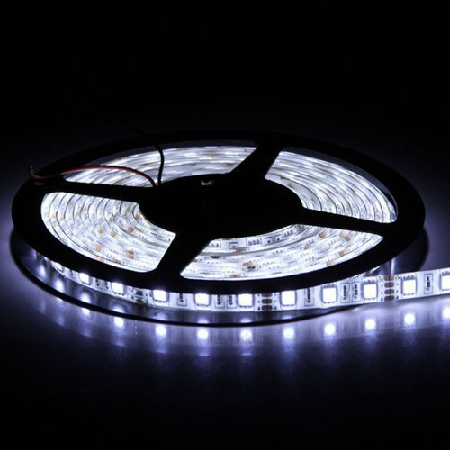 BMOUO 16.4ft 5050 Cool White Color led Strip