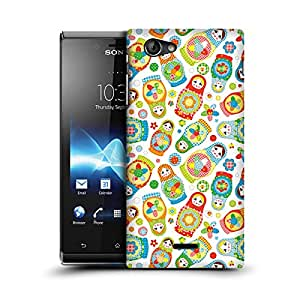 MobileGlaze Designs Totally Crazy Prints Russian Dolls Hard Back Case Cover for SONY XPERIA J ST26i