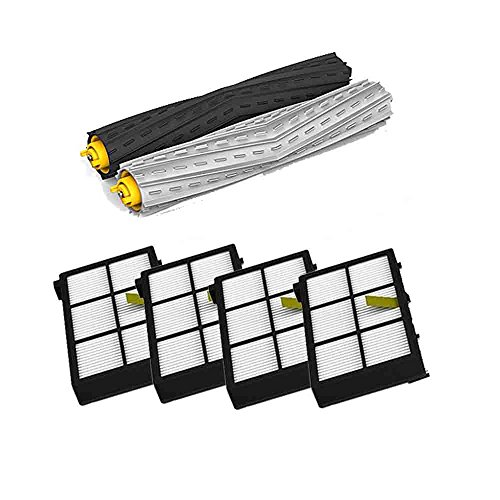 Dupin (Tm) Tangle-Free Debris Extractor Set & 4* Hepa Filter Replacement For Irobot Roomba 800 Series 870 880