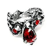 Passion Red Crystal Ring by Alchemy Gothic