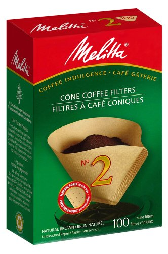 Melitta 622850 #2 Cone PA2-100 NB Filter Paper, Green