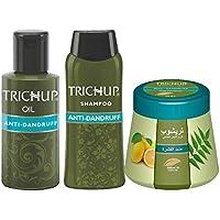 Trichup Scalp Nourishment Kit (Anti-Dandruff Oil (100ml), Anti-Dandruff Shampoo (200ml), Anti-Dandruff Cream 200ml...