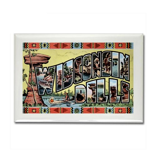 Cafepress Wisconsin Dells Wi Ii Rectangle Magnet - Standard Multi-Color