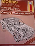 img - for Morris Marina 1.8 Owner's Workshop Manual (Service & repair manuals) book / textbook / text book
