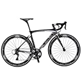 SAVADECK 700C Road Bike T800 Carbon Fiber 50CM Frame / Fork / Seat Post with SHIMANO 105 5800 22 Speed Derailleur System and KENDA 23C Tire Ultra-light 18.96lb (50cm/Gray)