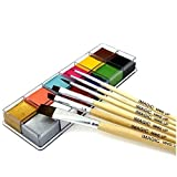 Body Face Paint With Brush 12 Color Pigment Oil Painting Art use in Halloween Party Fancy Dress Beauty Makeup Tool (1) (Tamaño: 2)