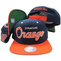 Buy Mitchell & Ness Syracuse Orangemen Script Snapback Adjustable by Mitchell & Ness