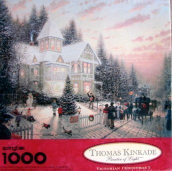 Thomas Kinkade Painter of Light Victorian Christmas I 1000pc. Puzzle